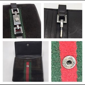 Gucci Bags - Authentic Gucci Brown Suede &Leather Bifold Wallet